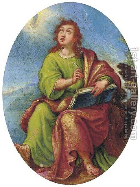 Saint John the Evangelist by (after) Denys Calvaert - Reproduction Oil Painting