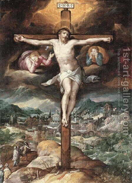 The Crucifixion by (after) Denys Calvaert - Reproduction Oil Painting