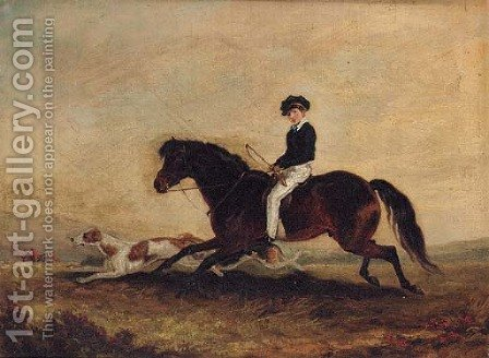 The Second Earl of Craven following a Hunt by (after) Edmund Bristow - Reproduction Oil Painting