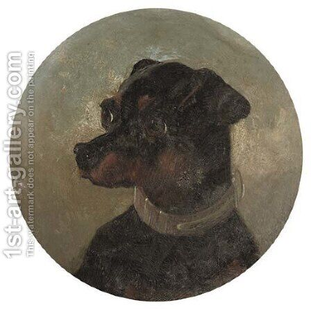 Portrait of a terrier by (after) Edwin Loder - Reproduction Oil Painting