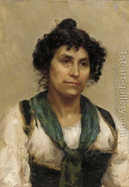 A peasant girl by (after) Long, Edwin - Reproduction Oil Painting