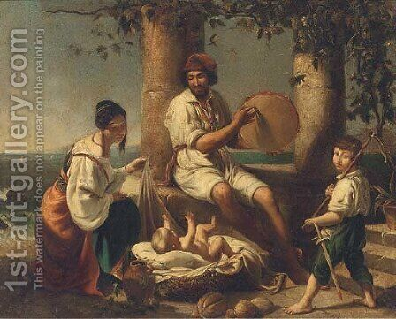 The musicians by (after) Eugene De Blaas - Reproduction Oil Painting