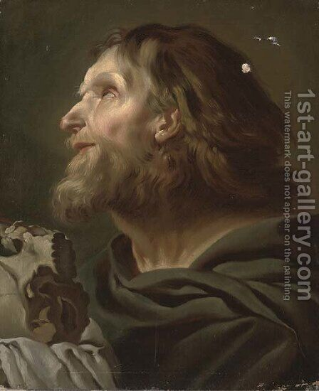 The Penitent Saint Jerome by (after) Federico Bencovich - Reproduction Oil Painting