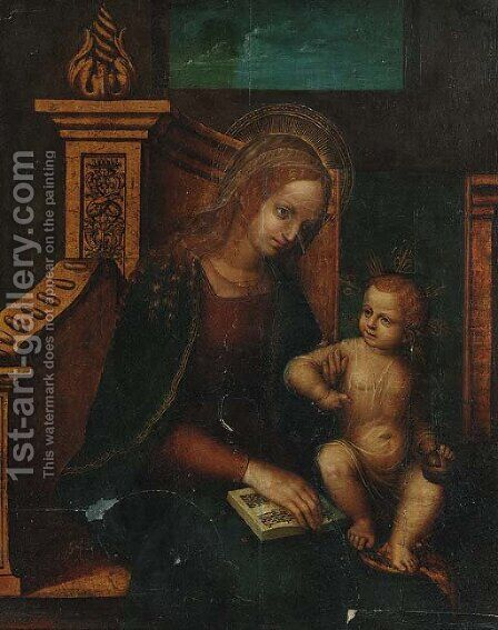 The Madonna and Child by (after) Fernando Llanos - Reproduction Oil Painting