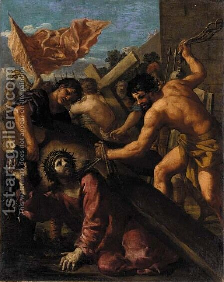 The Road to Calvary by (after) Filippo Lauri - Reproduction Oil Painting