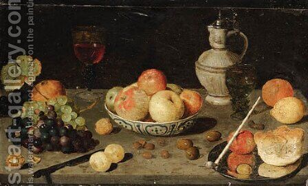 Still life by (after) Floris Claesz. Van Dyck - Reproduction Oil Painting