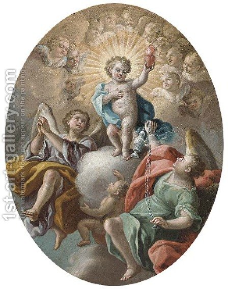 The Christ Child by (after) Francesco De Mura - Reproduction Oil Painting