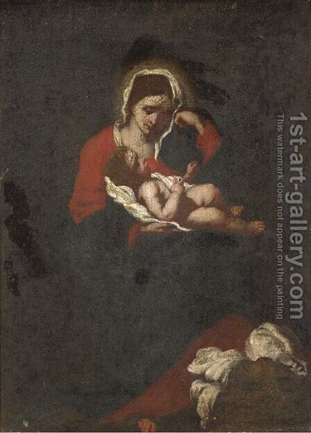 The Madonna and Child by (after) Francesco De Mura - Reproduction Oil Painting
