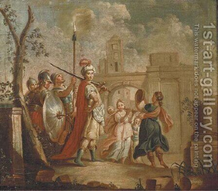 The Entrance of Alexander the Great into Babylon by (after) Francesco Fontebasso - Reproduction Oil Painting