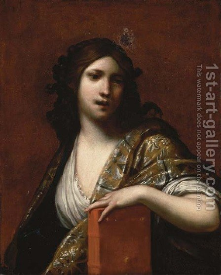 Clio, the Muse of History by (after) Francesco Furini - Reproduction Oil Painting