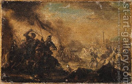 Cavalry Battles by (after) Francesco Simonini - Reproduction Oil Painting