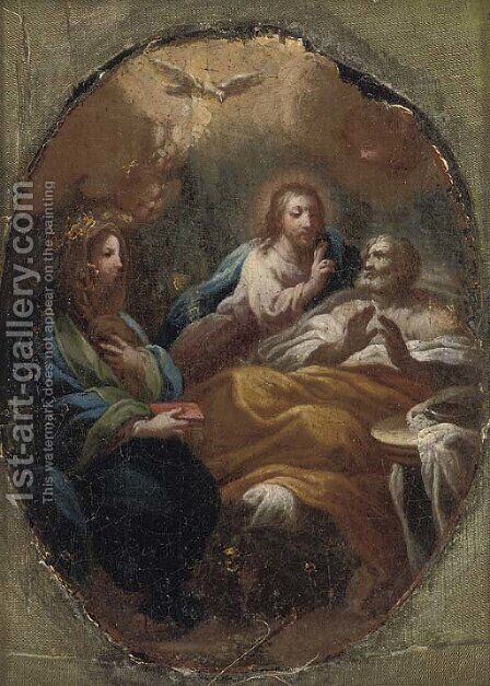 Christ blessing a man by (after) Francesco Trevisani - Reproduction Oil Painting