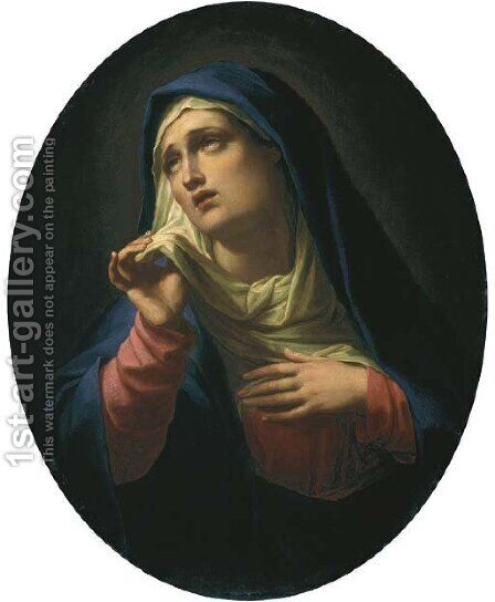 The Mater Dolorosa by (after) Francesco Trevisani - Reproduction Oil Painting