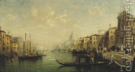The Grand Canal, Venice by (after) Francis Moltino - Reproduction Oil Painting