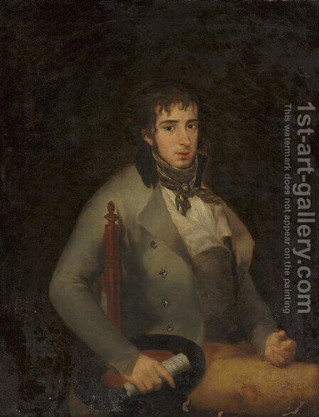 Portrait of Don Isidro Gonzalez Velasquez by (after) Francisco Goya Fuendetodos - Reproduction Oil Painting