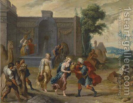 Rebecca at the well by (after) Frans II Francken - Reproduction Oil Painting
