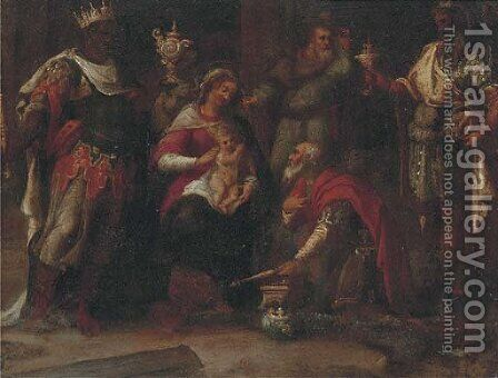 The Adoration of the Magi 3 by (after) Frans II Francken - Reproduction Oil Painting