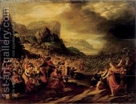 The Destruction of the Pharaoh's army in the Red Sea by (after) Frans II Francken - Reproduction Oil Painting