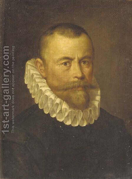 Portrait of a gentleman by (after)Frans, The Younger Pourbus - Reproduction Oil Painting