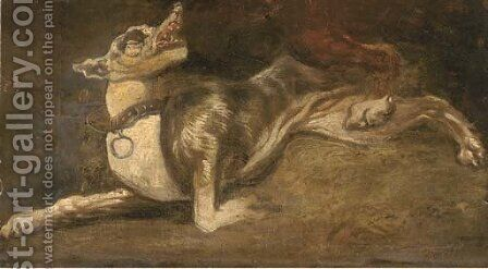 A hound a fragment by (after) Frans Snyders - Reproduction Oil Painting