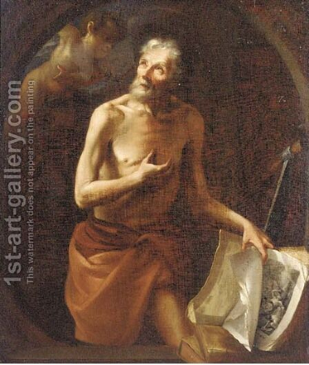 Saint Jerome by (after) Franz Sigrist - Reproduction Oil Painting