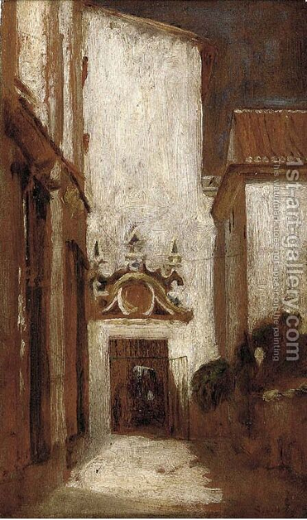 Portico, Granada by (after) Lord Frederick Leighton - Reproduction Oil Painting