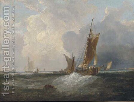 Congestion at the harbour mouth by (after) Frederick Calvert - Reproduction Oil Painting