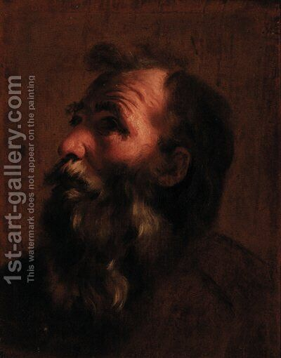 Head of an old man by (after) Gaetano Gandolfi - Reproduction Oil Painting