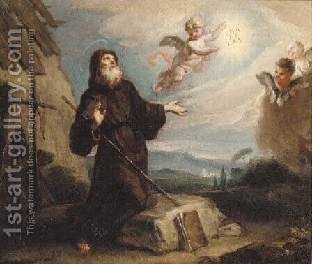 Saint Francis of Paola by (after) Gaspare Diziani - Reproduction Oil Painting