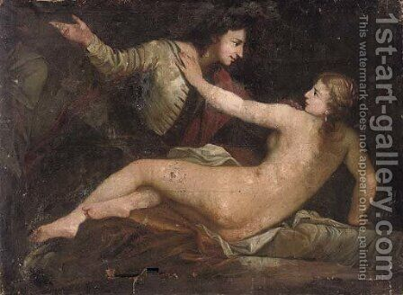 Joseph and Potiphar's wife by (after) Gavin Hamilton - Reproduction Oil Painting