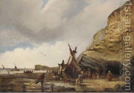 Unloading the catch by (after) George Chambers - Reproduction Oil Painting
