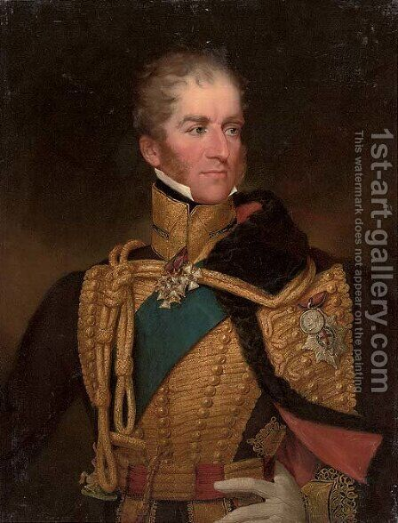 Portrait of a Colonel in Chief of the British Hussar's Regiment by (after) George Henry Harlow - Reproduction Oil Painting