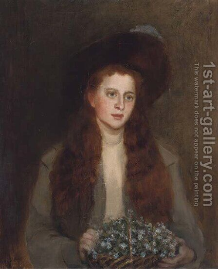 Portrait of Phyllis Chisholm-Batten by (after) George Sheridan Knowles - Reproduction Oil Painting