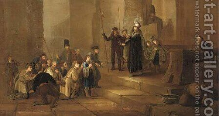 Joseph accusing Benjamin by (after) Gerrit De Wet - Reproduction Oil Painting