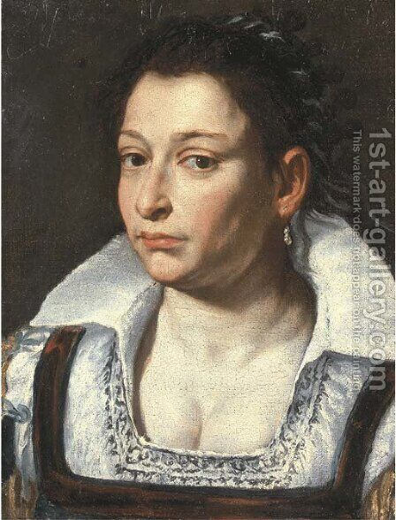 Portrait of a lady by (after) Giacomo Ceruti (Il Pitocchetto) - Reproduction Oil Painting