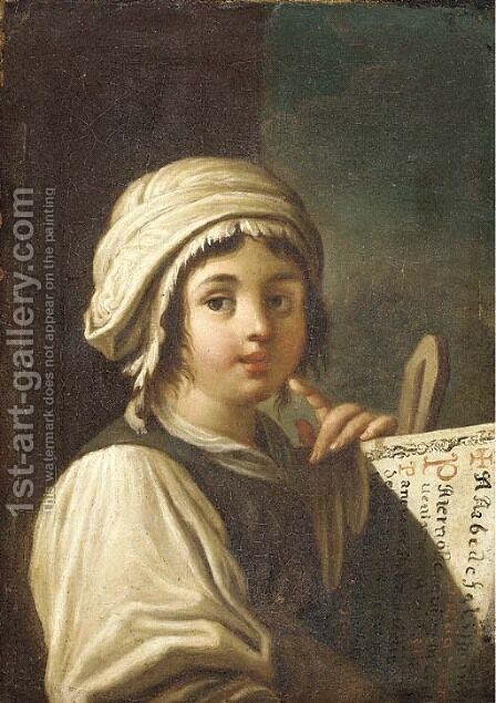 Portrait of a girl by (after) Giacomo Francesco Cipper - Reproduction Oil Painting
