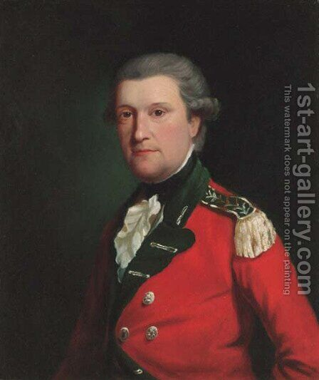 Portrait of Maximilian Weston (d.1795) by (after) Gilbert Stuart - Reproduction Oil Painting