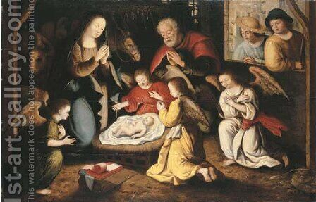 The Nativity by (after) Gillis Coignet - Reproduction Oil Painting