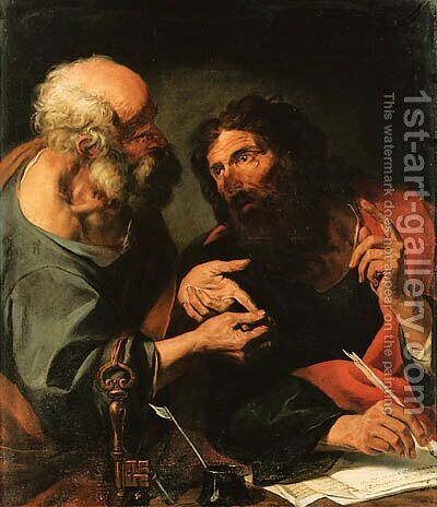 Saints Peter and Paul by (after) Giocchino Assereto - Reproduction Oil Painting