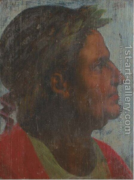 The Emperor Galba by (after) Giorgio Vasari - Reproduction Oil Painting