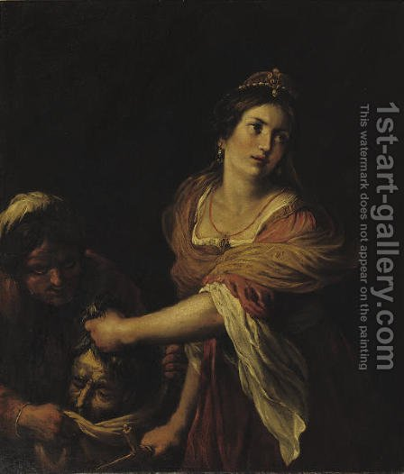Judith and Holofernes by (after) Giovanni Francesco Guerrieri - Reproduction Oil Painting