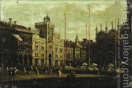 The Piazza San Marco, Venice by (after) (Giovanni Antonio Canal) Canaletto - Reproduction Oil Painting