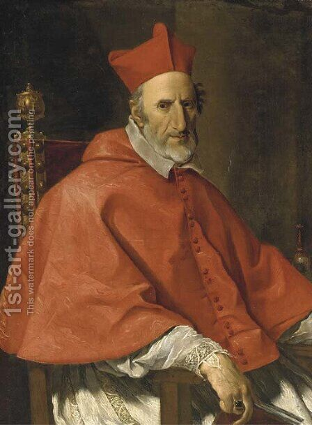 Portrait of a Cardinal 3 by (after) Giovanni Battista (Baciccio) Gaulli - Reproduction Oil Painting