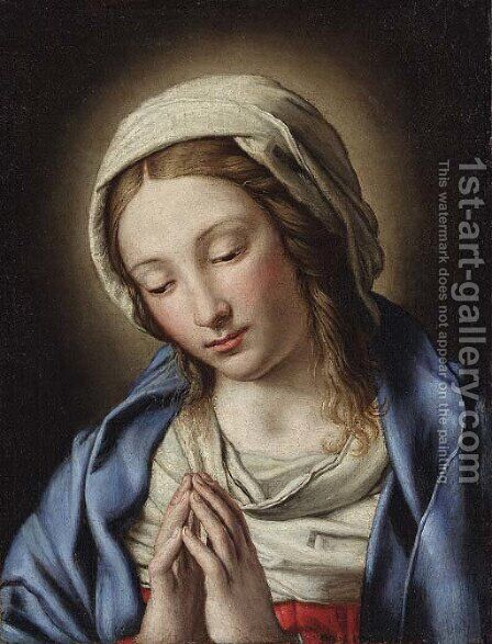 The Madonna in prayer by (after) Giovanni Battista Salvi, Il Sassoferrato - Reproduction Oil Painting