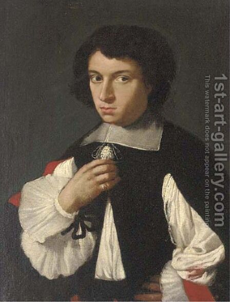 Portrait of a gentleman by (after) Giovanni Bernardo Carboni - Reproduction Oil Painting