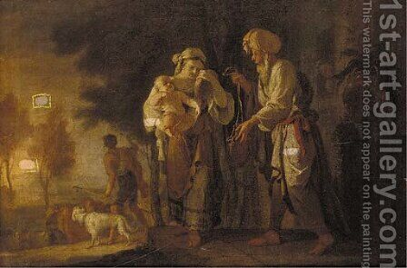 The Banishment of Hagar and Ishmael by (after) Giovanni Camillo Sagrestani - Reproduction Oil Painting