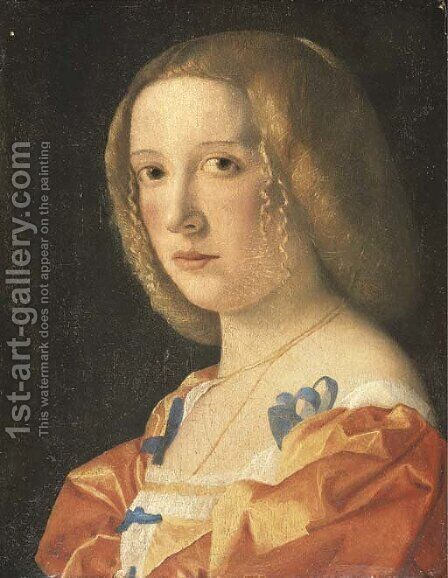 Portrait of a young lady by (after) Giovanni Cariani - Reproduction Oil Painting