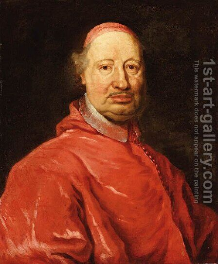 Portrait of Cardinal Fernando Nuzzi by (after) Giovanni Maria Morandi - Reproduction Oil Painting