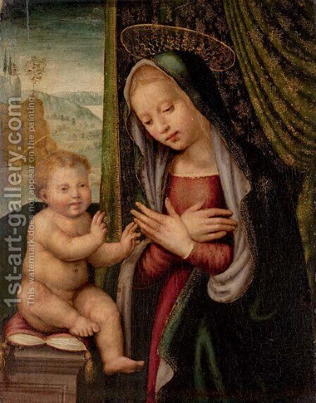 The Madonna and Child by (after) Giuliano Bugiardini - Reproduction Oil Painting