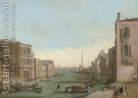 The Grand Canal, Venice by (after) Giuseppe Bernardino Bison - Reproduction Oil Painting